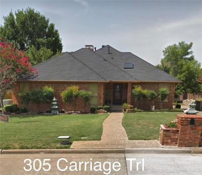 Rockwall Single Family Home For Sale: 305 Carriage Trail