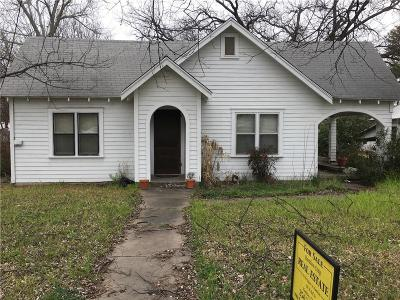 Hamilton TX Single Family Home For Sale: $69,900