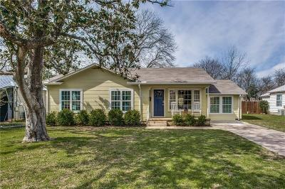 Denton Single Family Home Active Option Contract: 923 Denton Street