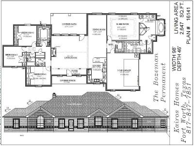 Weatherford Single Family Home Active Contingent: Lot 9 Old Authen Rd