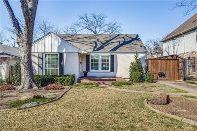 Dallas County Single Family Home Active Contingent: 4521 W Amherst Avenue