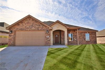 Abilene Single Family Home Active Option Contract: 6841 Inverness Street