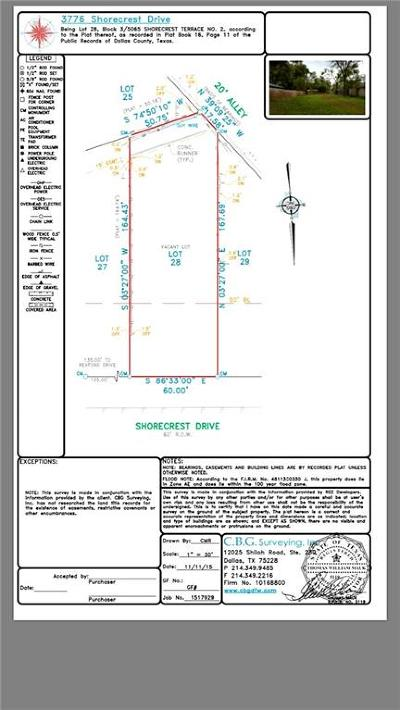 Dallas County Residential Lots & Land For Sale: 3776 Shorecrest Drive
