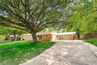 Fort Worth Single Family Home Active Option Contract: 5200 Briarwood Lane