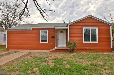 Abilene Single Family Home For Sale: 1617 Park Avenue
