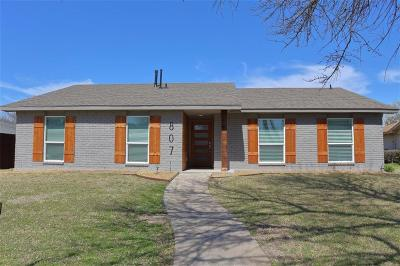 Richardson Single Family Home Active Option Contract: 807 Napier Drive