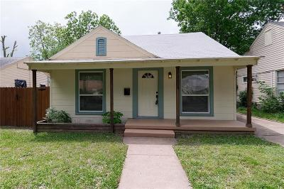 Dallas TX Single Family Home Active Contingent: $175,000