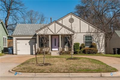 Fort Worth Single Family Home For Sale: 4932 Birchman Avenue