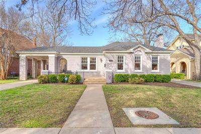 Fort Worth Single Family Home For Sale: 2538 Cockrell Avenue