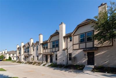 Dallas Townhouse For Sale: 8705 Tudor Place