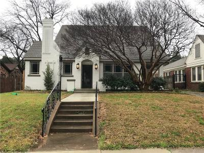 Fort Worth Single Family Home For Sale: 2725 6th Avenue