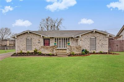 Irving Single Family Home Active Option Contract: 2737 Cibola Drive