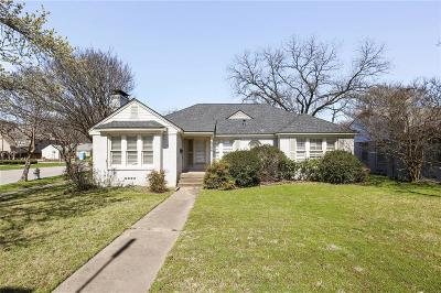 Highland Park, University Park Single Family Home For Sale: 4236 Lovers Lane
