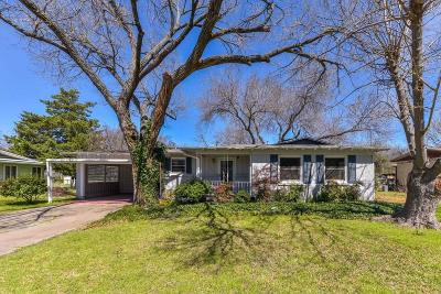 Richland Hills Single Family Home Active Option Contract: 6729 Reeves Street
