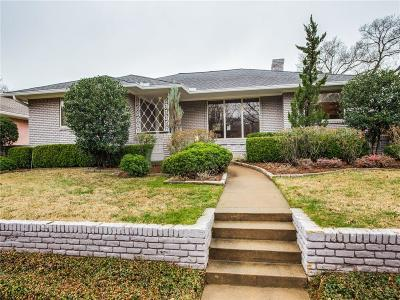 Dallas Single Family Home For Sale: 6846 Carolyncrest Drive