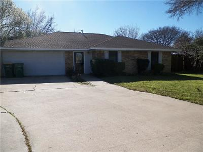 Lewisville Single Family Home Active Option Contract: 1638 Highpoint Drive