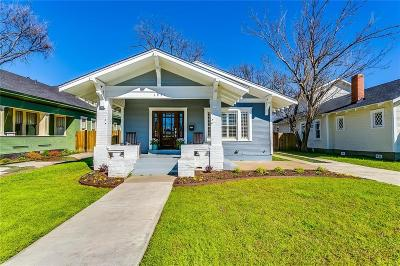 Fort Worth Single Family Home For Sale: 1931 Fairmount Avenue