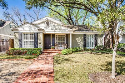 Highland Park, University Park Single Family Home For Sale: 3908 Amherst Avenue