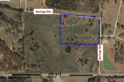 Cooke County Farm & Ranch For Sale: 622 Springs Road