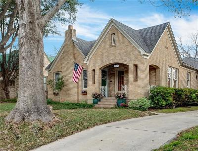 Fort Worth Single Family Home For Sale: 2225 Tremont Avenue