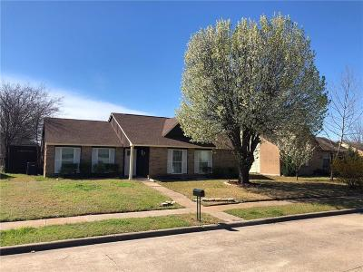 Garland Single Family Home Active Option Contract: 708 Camilla Lane
