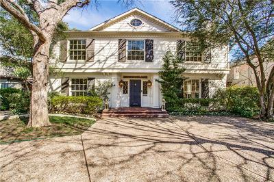 Dallas County Single Family Home For Sale: 4308 McFarlin Boulevard