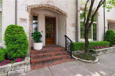 Dallas Townhouse For Sale: 5926 Chipping Way
