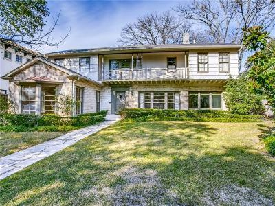 Dallas County Single Family Home For Sale: 4408 Lorraine Avenue