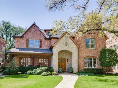 Dallas County Single Family Home For Sale: 7624 Bryn Mawr Drive