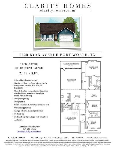 Fort Worth Single Family Home For Sale: 2620 Ryan Avenue