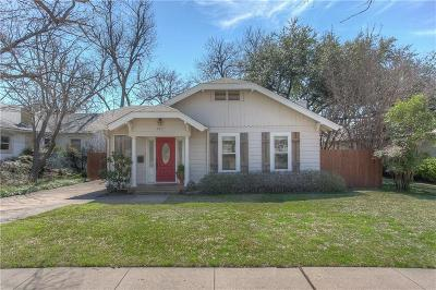 Fort Worth Single Family Home For Sale: 5117 Byers Avenue