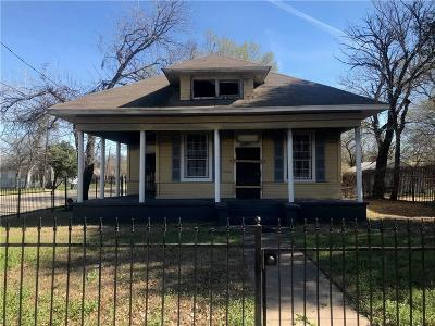 Dallas County, Denton County, Collin County, Cooke County, Grayson County, Jack County, Johnson County, Palo Pinto County, Parker County, Tarrant County, Wise County Single Family Home For Sale: 1816 Peabody Avenue