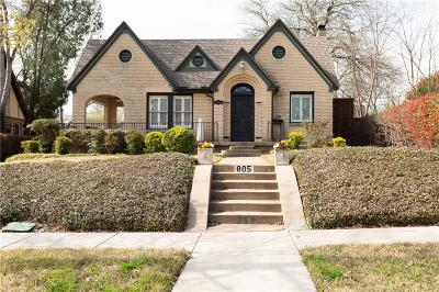Dallas Single Family Home For Sale: 805 Newell Avenue