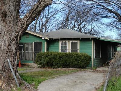 Dallas Single Family Home For Sale: 2405 Lawrence Street
