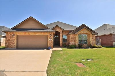 Abilene Single Family Home For Sale: 3025 Founders Place