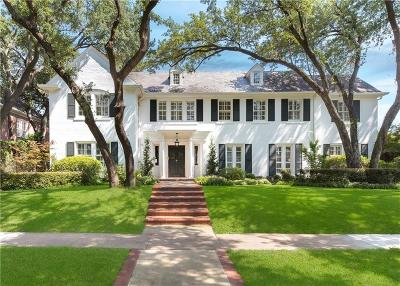 Dallas County Single Family Home Active Option Contract: 4224 Beverly Drive