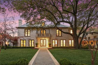 Highland Park Single Family Home For Sale: 4433 Rheims Place