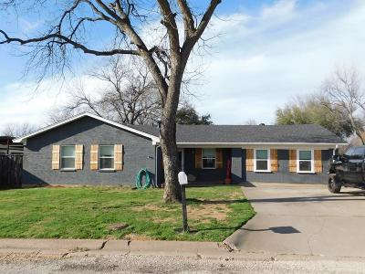 Archer County, Baylor County, Clay County, Jack County, Throckmorton County, Wichita County, Wise County Single Family Home For Sale: 1024 Archer W