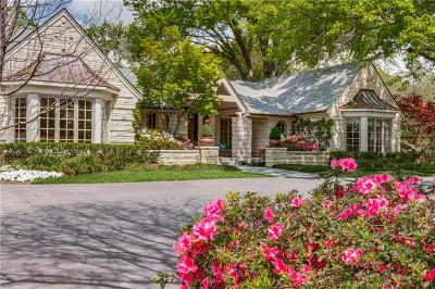 Preston Hollow, Preston Hollow Rev Single Family Home For Sale: 5115 W Walnut Hill Lane