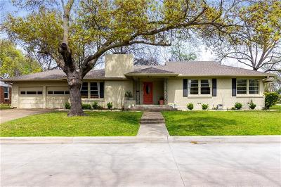 Fort Worth Single Family Home Active Option Contract: 3961 Weyburn Drive