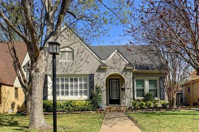Dallas Single Family Home For Sale: 5233 Vanderbilt Avenue
