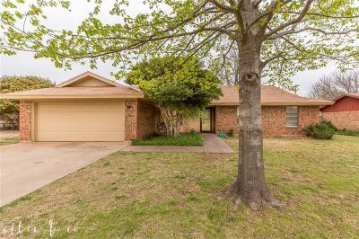 Abilene Single Family Home Active Contingent: 2618 Button Willow Parkway