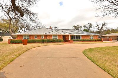 Abilene Single Family Home For Sale: 1417 Tanglewood Road