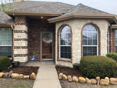 Wylie Single Family Home Active Option Contract: 1215 Destiny Court