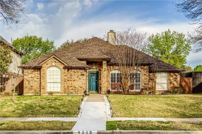 Carrollton Single Family Home Active Contingent: 4215 Harvest Hill Road