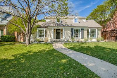 University Park Single Family Home For Sale: 3700 Bryn Mawr Drive