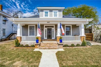 Dallas Single Family Home For Sale: 4417 Worth Street