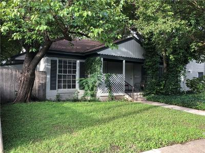 Dallas Single Family Home For Sale: 4301 Bowser Avenue