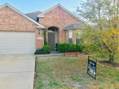 Denton County Single Family Home Active Option Contract: 8824 Sierra Trail