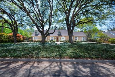 Single Family Home For Sale: 3950 Northaven Road